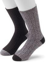 Men's Climatesmart Plushfill Ribbed Outdoor Casual Crew Socks