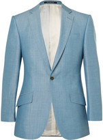 Richard James - Blue Slim-fit Wool, Linen And Mohair-blend Suit Jacket