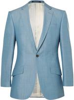 Richard James Blue Slim-Fit Wool, Linen and Mohair-Blend Suit Jacket