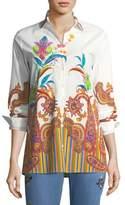 Etro Poplin Floral Paisley Tunic