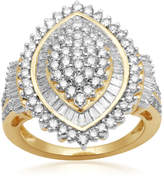 JCPenney FINE JEWELRY 2 CT. T.W. Diamond 10K Yellow Gold Cluster Ring
