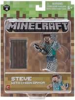 """Minecraft Minecraft Minecraft 3"""" Action Figures - Steve In Chain Armour"""