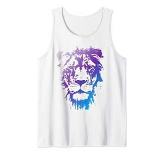 Cosmic Lion tribal lion animal print designs Tank Top