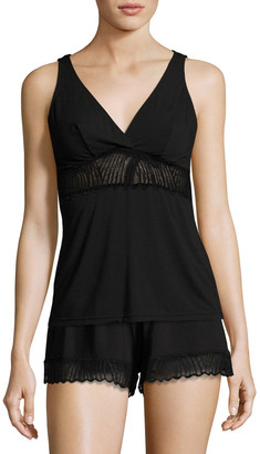 Cosabella Minoa Lace-Trim Sleep Camisole, Black