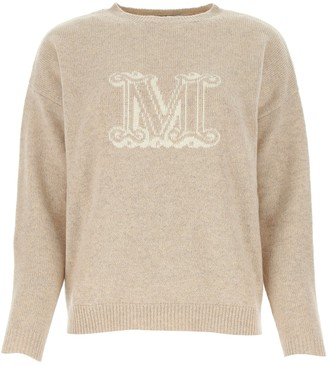 Max Mara Logo Crewneck Knitted Jumper