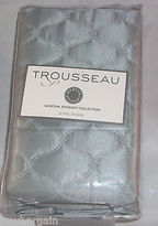 Martha Stewart Quilted Standard Pillow Sham Trousseau Collection Cirque Gray