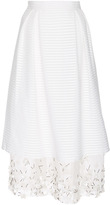 Mother of Pearl Cotton Silk Layered Hudson Skirt