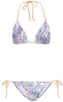 Zimmermann Exclusive to Mytheresa Paisley triangle bikini