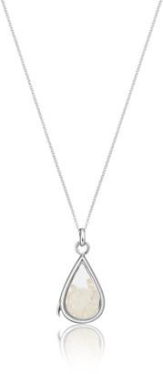 Lily & Roo Sterling Silver & Glass Moonstone Birthstone Locket