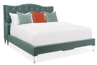 Caracole Classic Do Not Disturb Tufted Upholstered Platform Bed with Mattress Size: California King