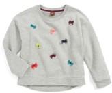 Tea Collection Toddler Girl's Dealan-De 3D Embellished Sweater