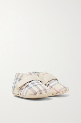 Burberry Sizes 15 - 19 Checked Cotton-poplin Booties