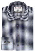 Thomas Pink Fleming Check Slim Fit Button Cuff Shirt