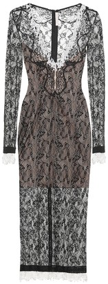 Christopher Kane Embellished lace midi dress