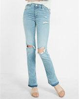 Express High Waisted Destroyed Vintage Skyscraper Jean