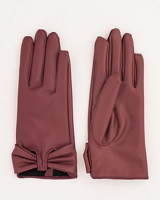 Le Château Faux Leather Gloves