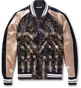 Valentino Zandra Rhodes Printed Satin Bomber Jacket