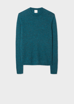 Paul Smith Women's Petrol Blue Ribbed Mohair And Alpaca-Blend Sweater