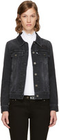 Kenzo Black Denim Trucker Jacket
