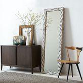 west elm Parsons Floor Mirror - Gray Herringbone