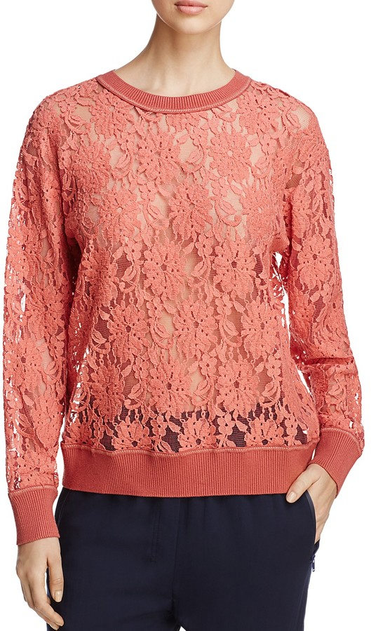 DKNY Lace Sweatshirt
