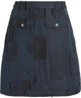 Carven Jacquard Mini Skirt - Midnight blue