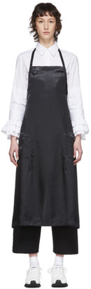 Comme des Garcons Black Satin Apron Dress
