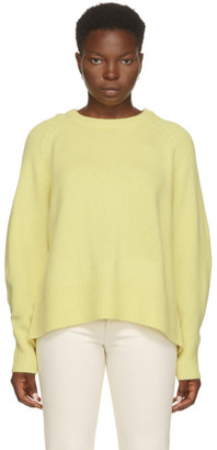 Arch4 Yellow Cashmere Bredin Crewneck Sweater