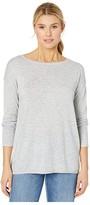 NYDJ Button Back Boat Neck Sweater (Blueberry Fields) Women's Clothing