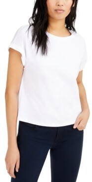 INC International Concepts Inc Boxy Crewneck T-Shirt, Created for Macy's