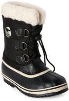 Sorel Kids Girls) Black Yoot PAC Nylon Snow Boots