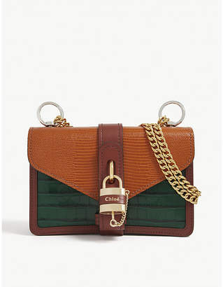 Chloé Aby reptile-embossed leather satchel bag