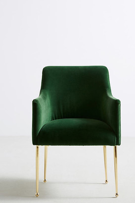 Anthropologie Velvet Elowen Armchair By in Green