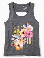 Old Navy Graphic Twist-Back Performance Tank for Girls