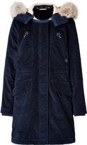 Marc by Marc Jacobs Rainbow Corded Twill Coat in Ink Blue
