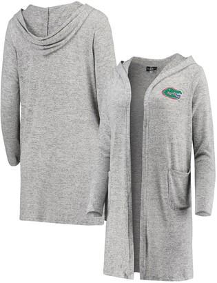 Women's Heathered Gray Florida Gators Cuddle Soft Duster Cardigan