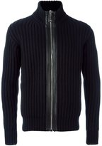 Les Hommes zip through ribbed cardigan