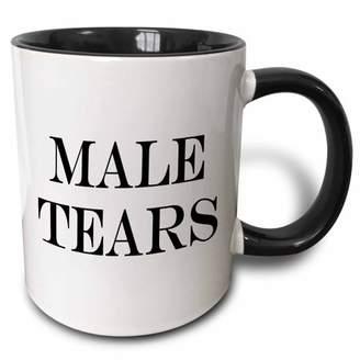 3drose 3dRose Male Tears., Two Tone Black Mug, 11oz