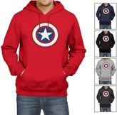 AX Fashions Mens Captain America Hoodie , L | New Mens Adult Captain America 2 Sweatshirt Pullover Hoodie