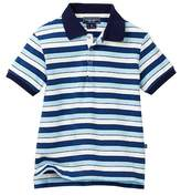 Toobydoo Positano Blue Striped Polo (Toddler & Little Boys)