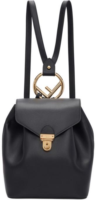 Fendi Black F is Backpack