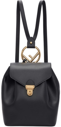 Fendi Black F is Backpack