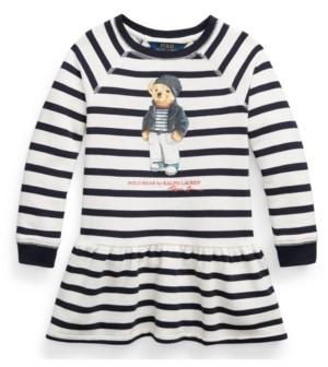 Polo Ralph Lauren Little Girls Polo Bear Fleece Dress