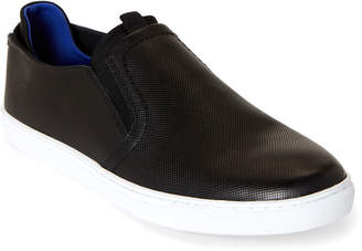 English Laundry Black Jacob Leather Slip-On Sneakers