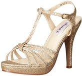 Dyeables Dyeables, Inc Womens Women's Kaylee Platform Dress Sandal