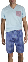 Mitch Dowd Contrast V Neck Sleep Tee With Pocket / Spot Short