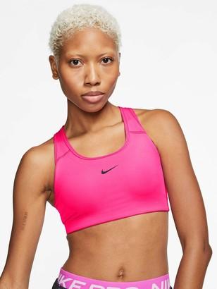 Nike Medium SupportPadded Swoosh Sports Bra - Hyper Pink
