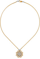 Buccellati Rombi 18-karat Yellow And White Gold Diamond Necklace - one size