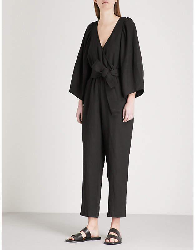 Apiece Apart Meru wrap-over woven jumpsuit