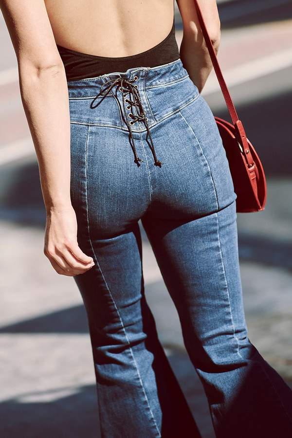 963b4fc7b22554 Dark Blue Flare Jeans - ShopStyle